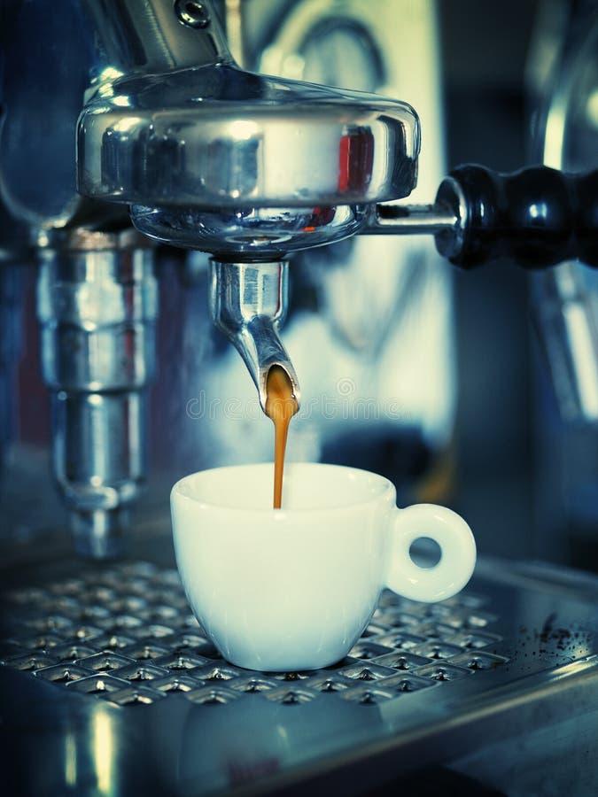 Making espresso stock images