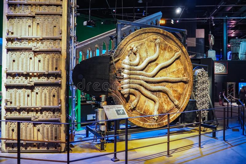 The Making of Harry Potter is a public attraction in Leavesden, London, UK which preserves and showcases the iconic props. Warner Bros. Studio Tour - The Making royalty free stock photography