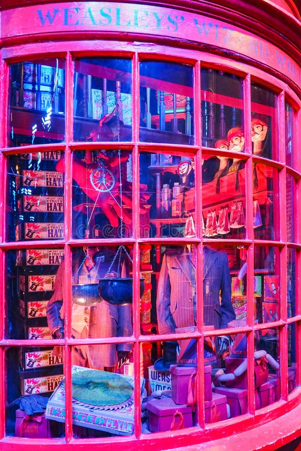 The Making of Harry Potter is a public attraction in Leavesden, London, UK which preserves and showcases the iconic props. Warner Bros. Studio Tour - The Making stock images