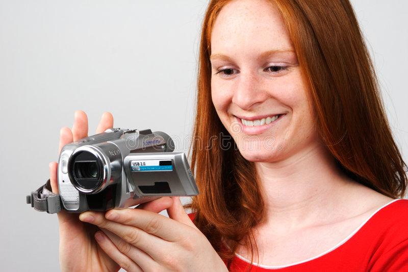Making a Home Video royalty free stock image