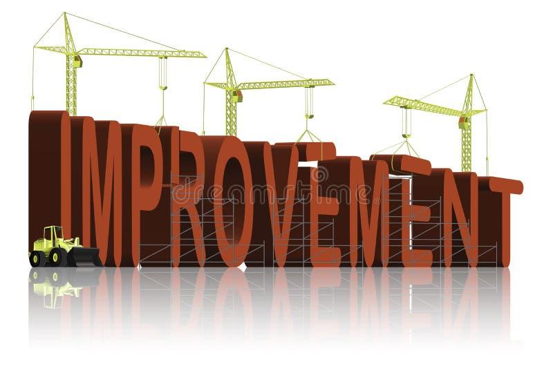 Making improvement improve quality stock illustration