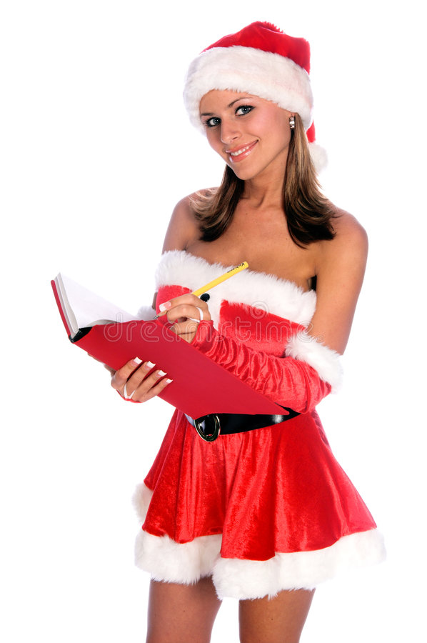 Download Making A List stock image. Image of santa, claus, christmas - 1304281
