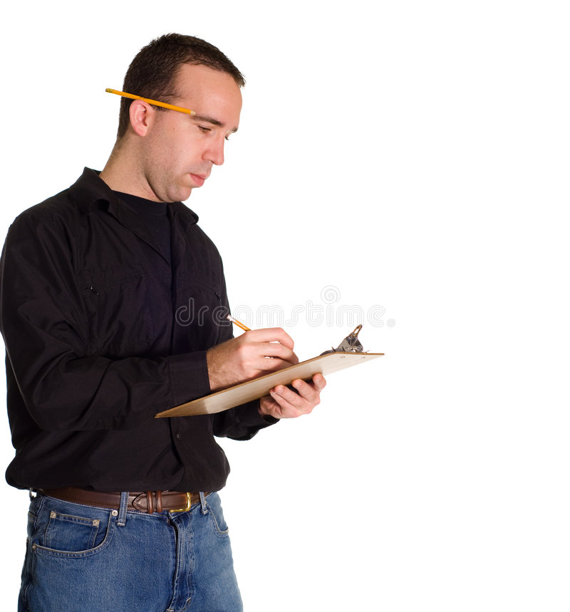 Download Making A List stock image. Image of notes, male, occupation - 7289857