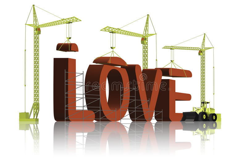 Making love build your relation stock image