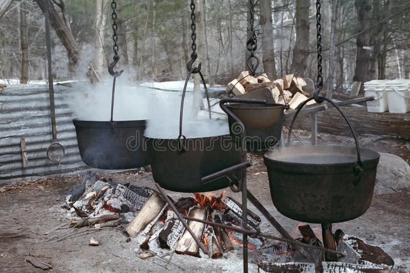 Download Boiling Maple Sap To Make Syrup Stock Photo - Image: 30138020