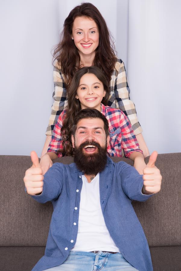 Making memories. happy childrens day. Bearded man and woman with daughter. Happy family. Father, mother and child. Making memories. happy childrens day. Bearded stock photo