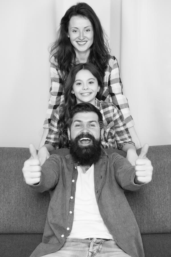 Making memories. happy childrens day. Bearded man and woman with daughter. Happy family. Father, mother and child. Making memories. happy childrens day. Bearded stock images