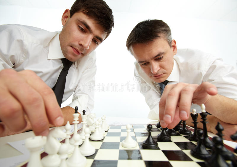 Download Making move stock image. Image of masculine, friendship - 25443535