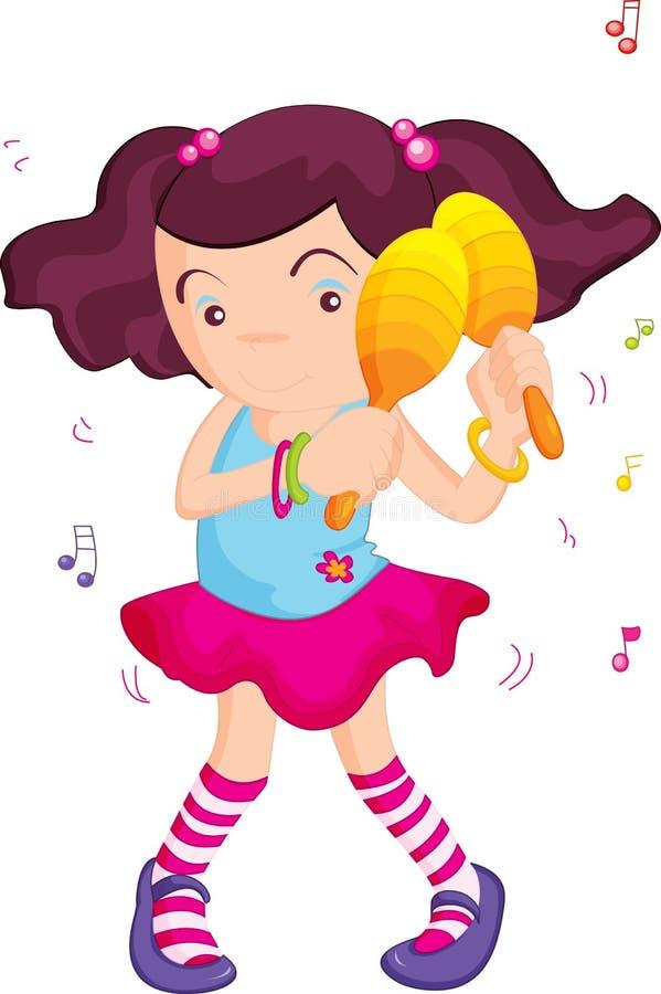 Download Making music stock illustration. Image of pigtails, ponytails - 8203135