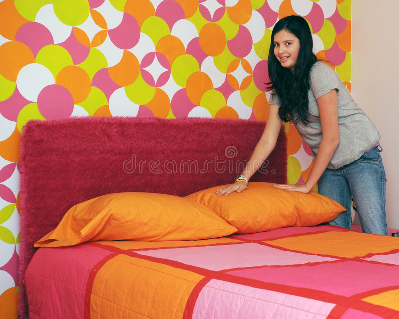 Making My Bed royalty free stock photos