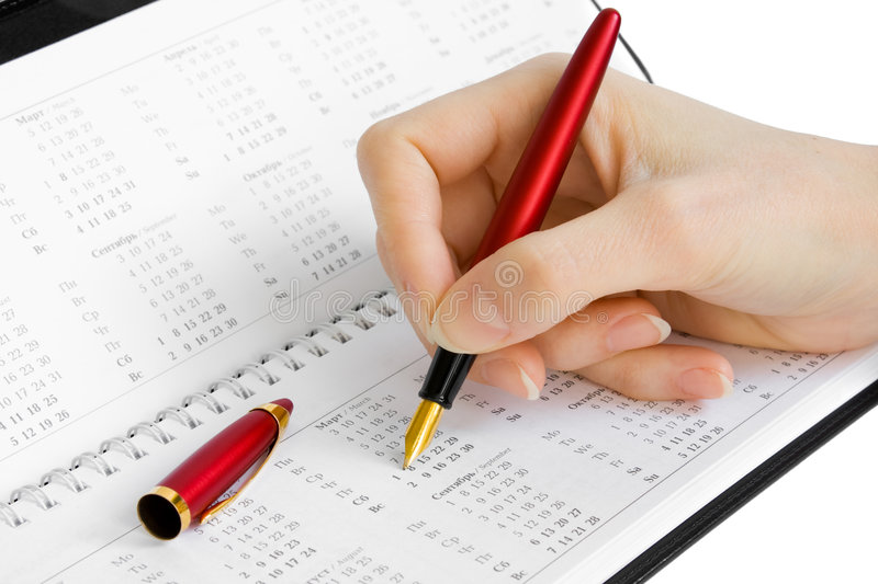 Download Making Note In The Organizer Stock Photo - Image: 7104800