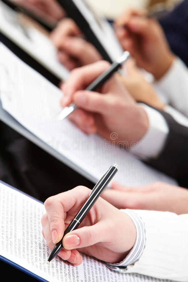 Download Making notes stock image. Image of letterhead, interview - 13599609