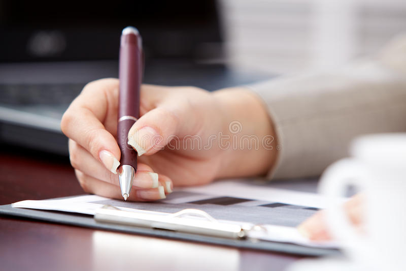 Download Making notes stock image. Image of lecture, agenda, notify - 17115889