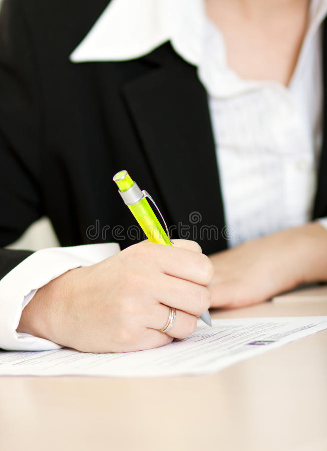 Download Making Notes stock photo. Image of closeup, isolated - 18114292