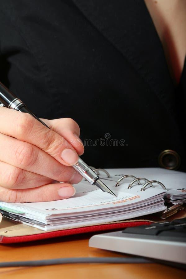 Making notes royalty free stock photo