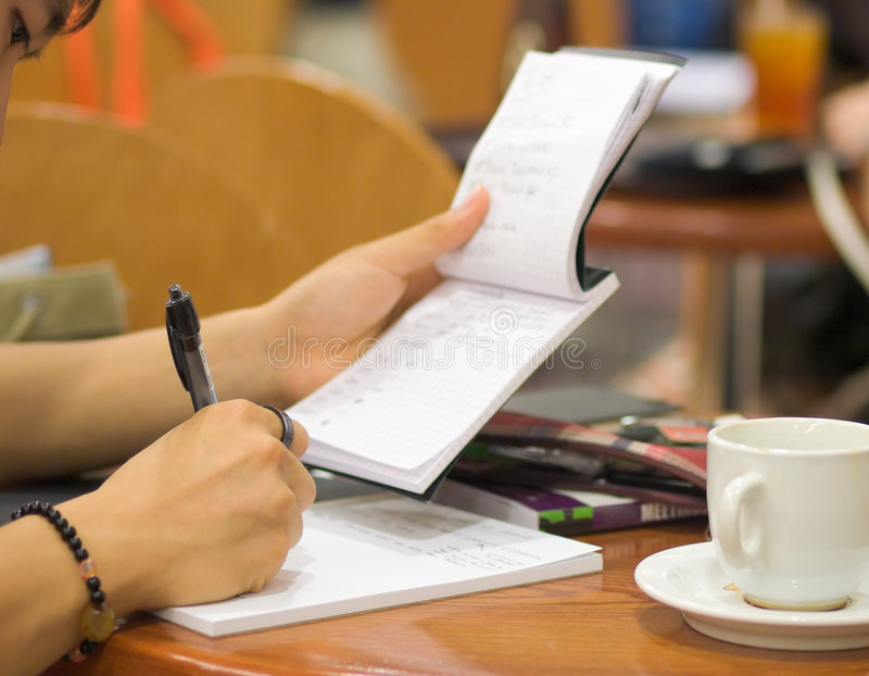 Download Making Notes stock image. Image of book, work, diligent - 6781701