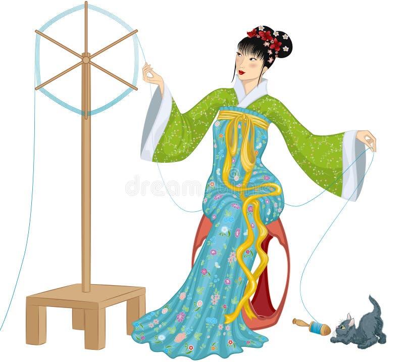 Free Making Of Silk Thread Stock Photos - 23101273