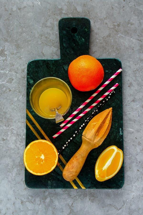 Making orange juice royalty free stock photos