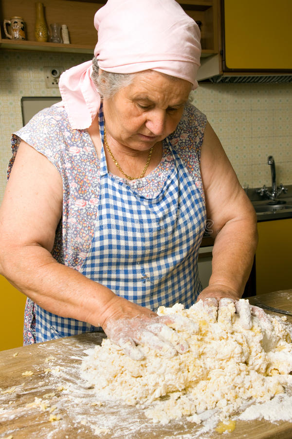 Download Making pasta stock image. Image of lump, housewife, formula - 15485835