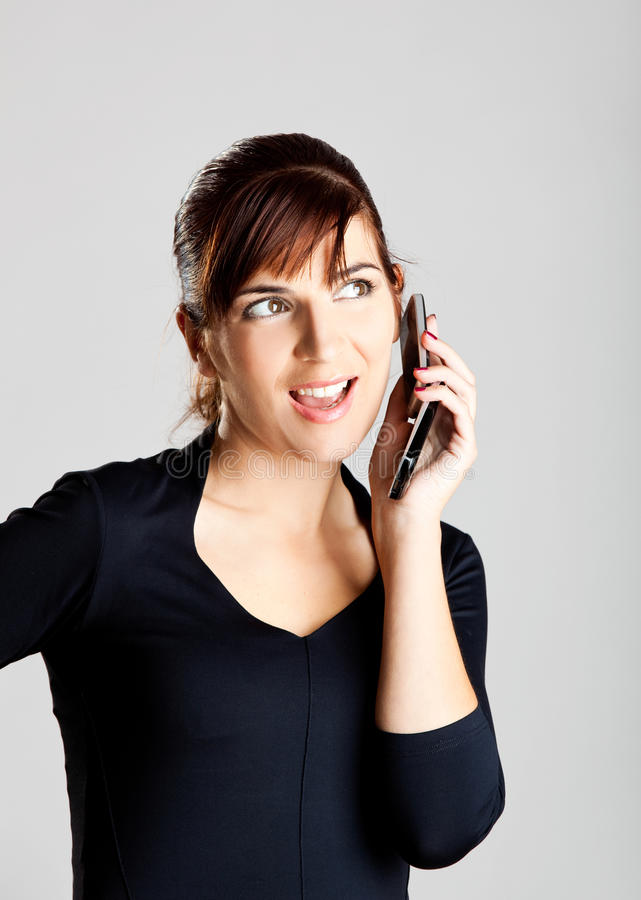 Download Making a phone call stock image. Image of female, communication - 14647649