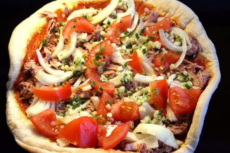 Making pizza royalty free stock photos