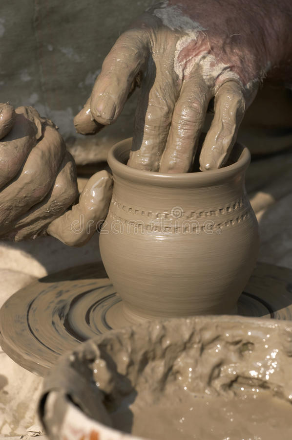 Download Making pottery stock photo. Image of dirty, creator, pottery - 11572838