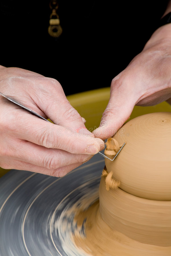 Download Making Pottery stock image. Image of turn, ware, making - 2473773