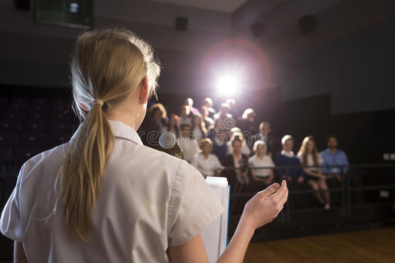 Making a Speech royalty free stock image