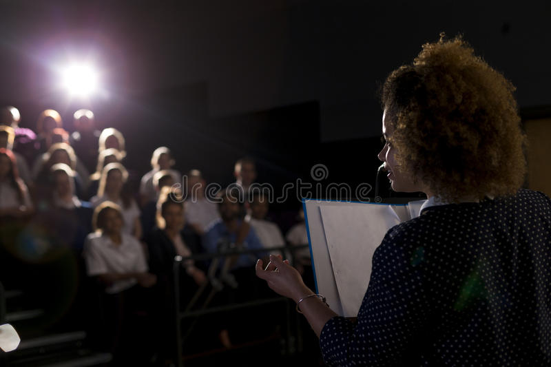 Making a Speech royalty free stock images