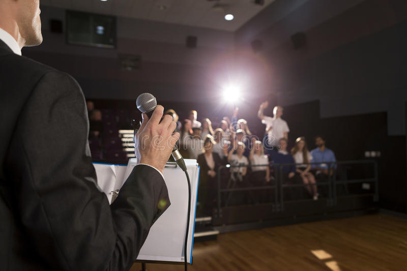 Making a Speech royalty free stock photos