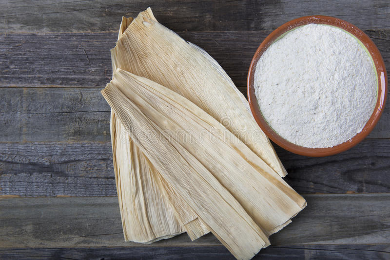 Making Tamales stock photo