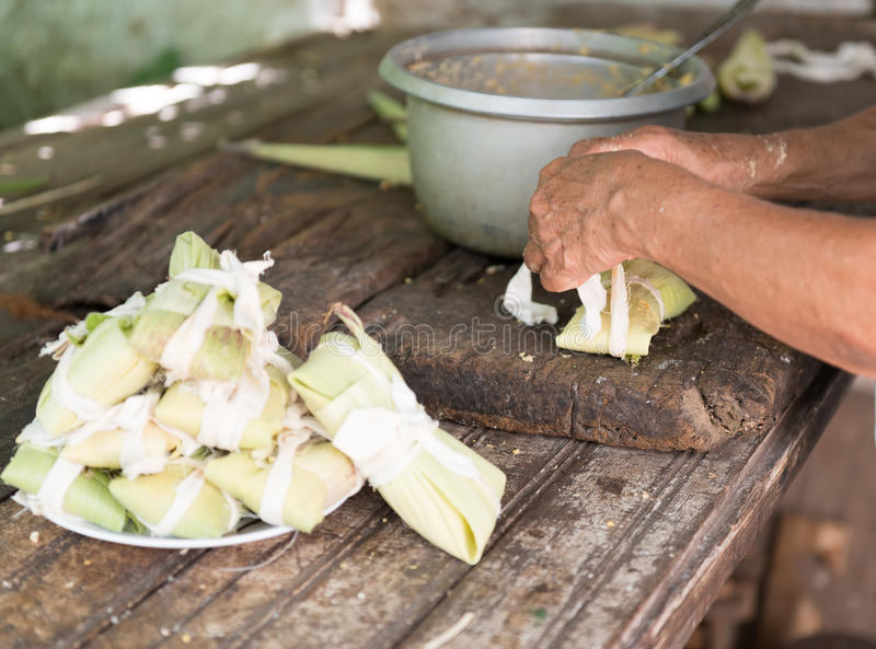 Making Tamales in Cuba stock images
