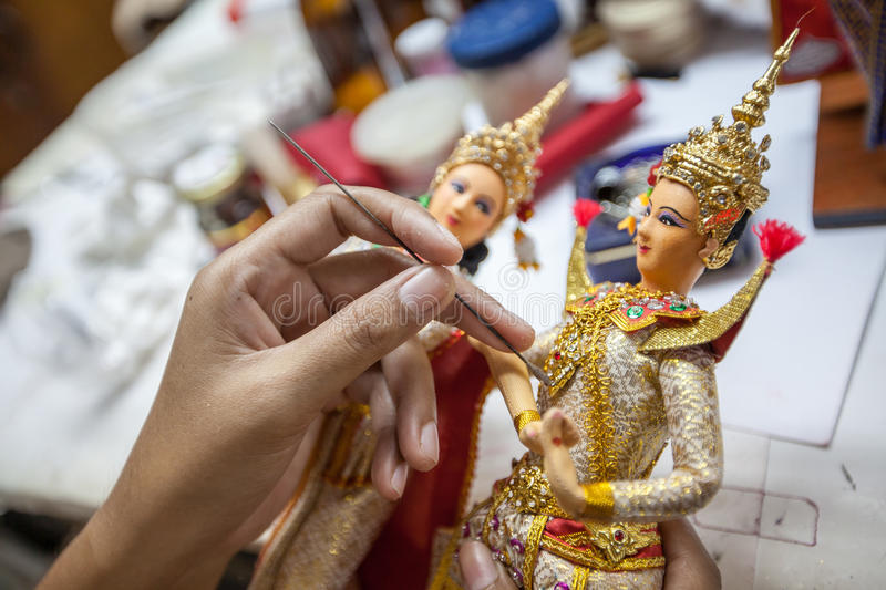 Making Thai Doll royalty free stock photos