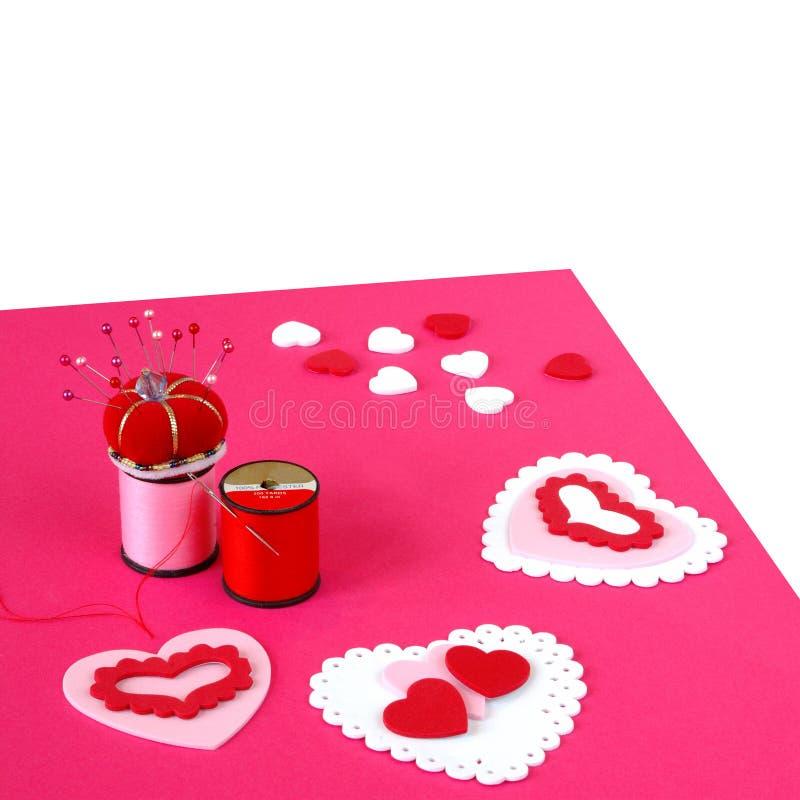 Download Making Valentine Cards Stock Image - Image: 1858111