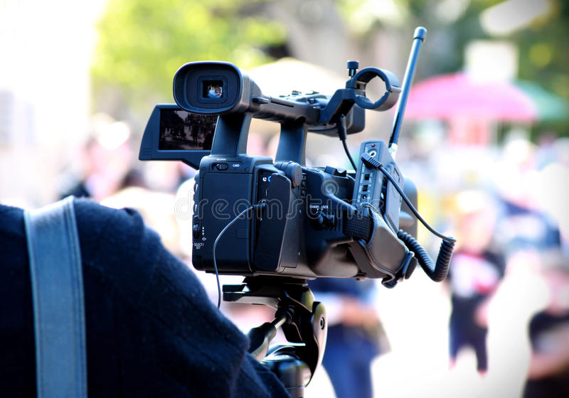 Download Making video stock image. Image of news, outdoors, performance - 18857909