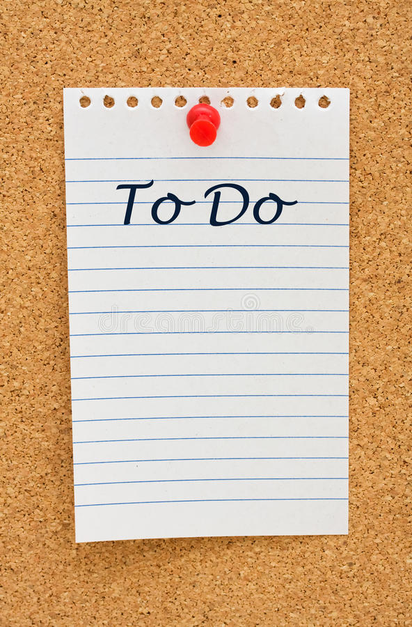 Download Making your to do list stock photo. Image of making, outline - 13502726