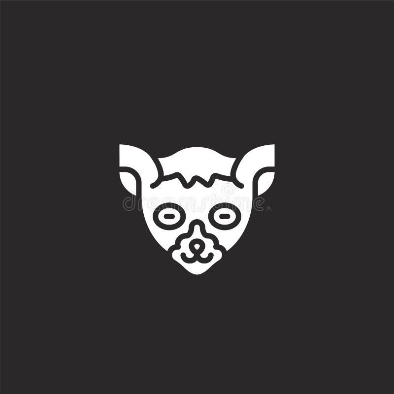 Makipictogram Gevuld makipictogram voor websiteontwerp en mobiel, app ontwikkeling makipictogram van gevulde dierlijke avatars in stock illustratie