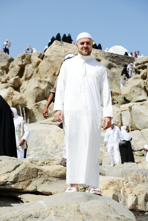 Makkah Kaaba Hadsch-Moslems stockbilder