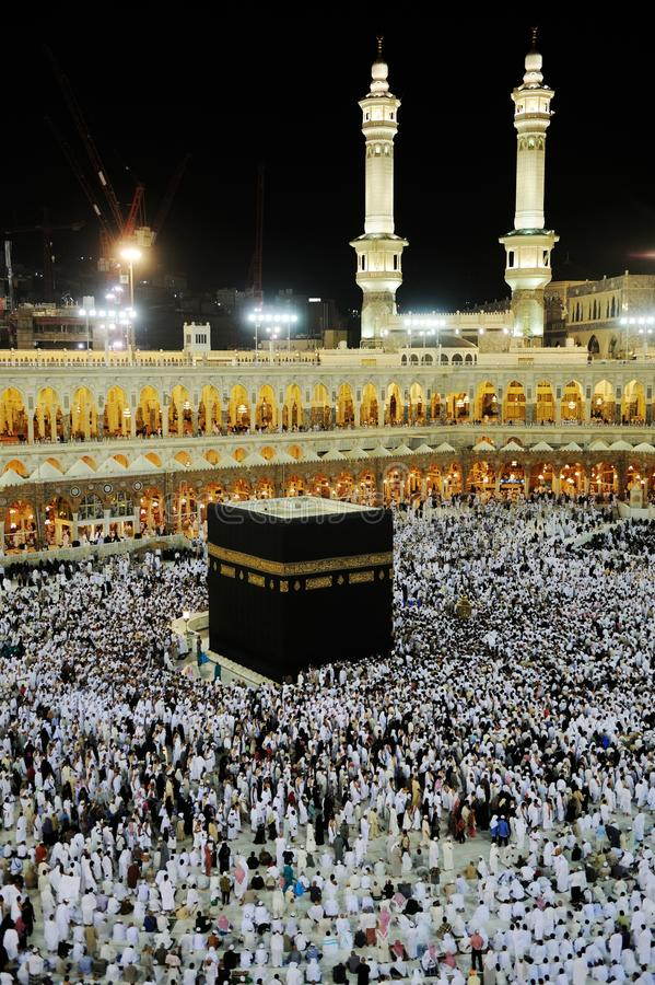 Makkah Kaaba Hadsch-Moslems lizenzfreie stockfotos