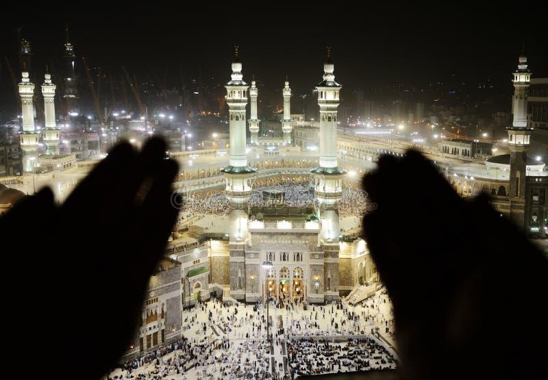 Makkah Kaaba Hajj Moslims royalty-vrije stock foto