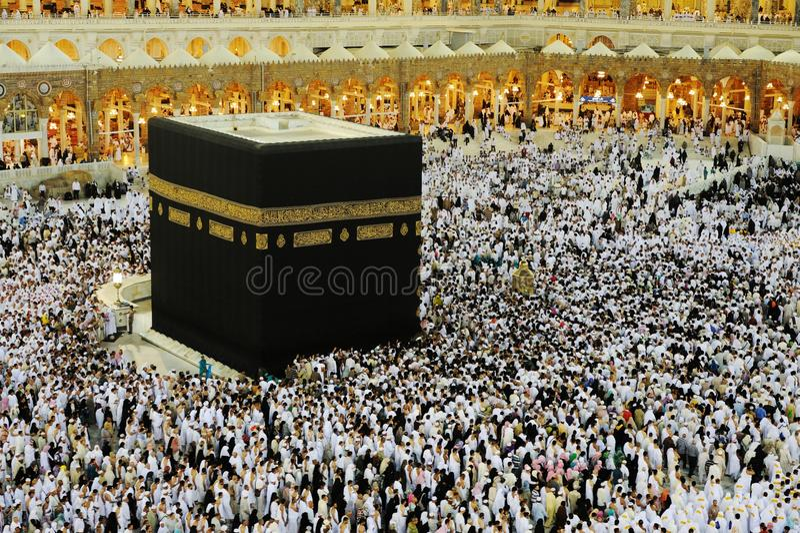 Makkah Kaaba Hajj Moslims royalty-vrije stock fotografie