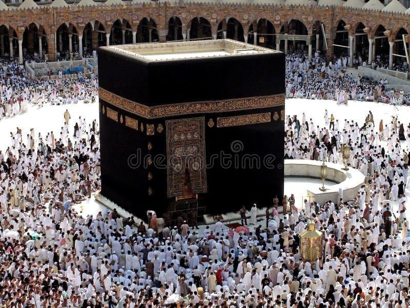 Makkah Kaaba Hajj Moslims stock foto