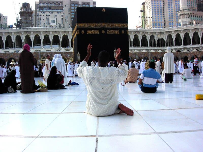 Makkah Kaaba Hajj Moslims stock afbeeldingen