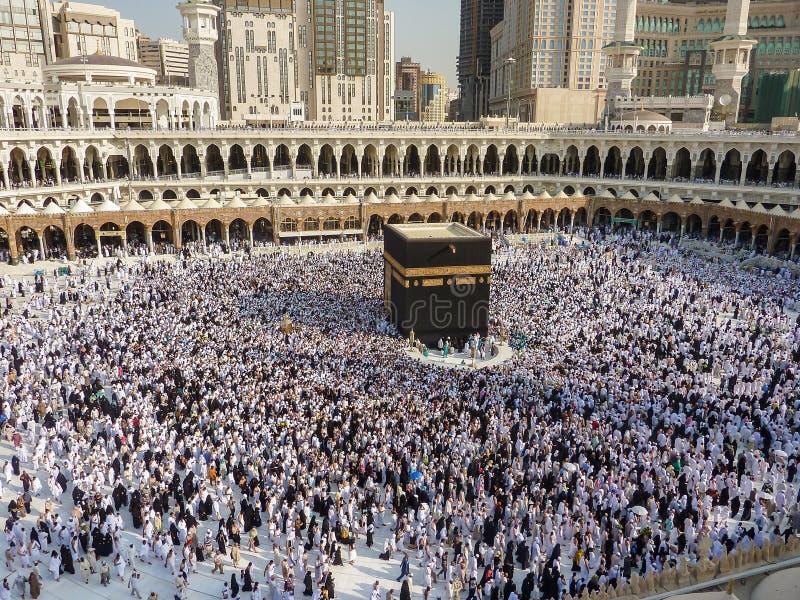 Makkah Kaaba Hajj Moslims stock foto's