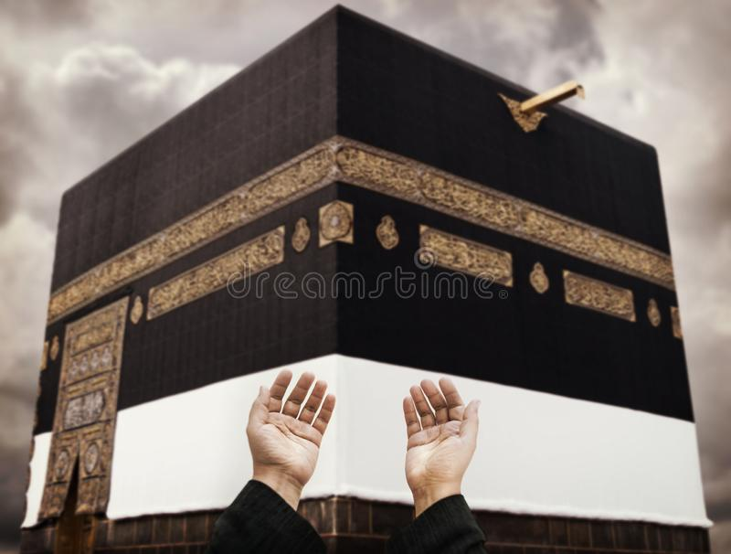 Makkah Kaaba Hajjmuselmaner som ber royaltyfri bild