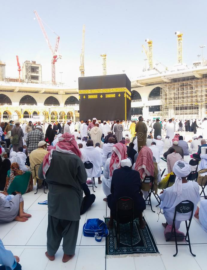 Makkah, Saudi-Arabië maart 2019, Kaaba in Makkah, Koninkrijk van Saudi-Arabië royalty-vrije stock foto