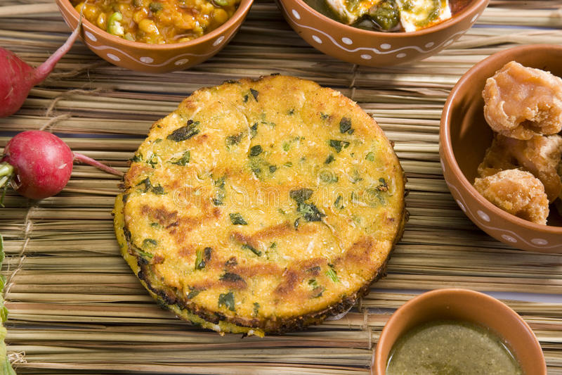 Makki Ki Roti oder Getreidemehl-Brot stockfotografie