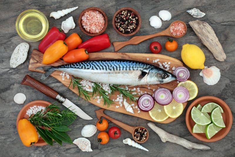 Makrelen-Fische für gesunde Ernährung stockbild