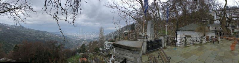 Makrinitsa wioski centre obraz royalty free