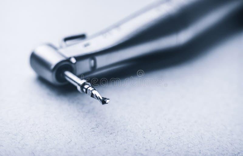 Makro av den tand- drillborren arkivfoto